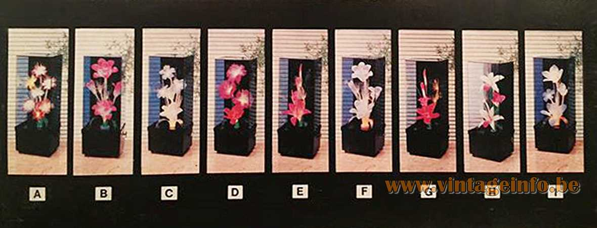 Fiberglass Flower Kitsch Table Lamps - Box - Packaging