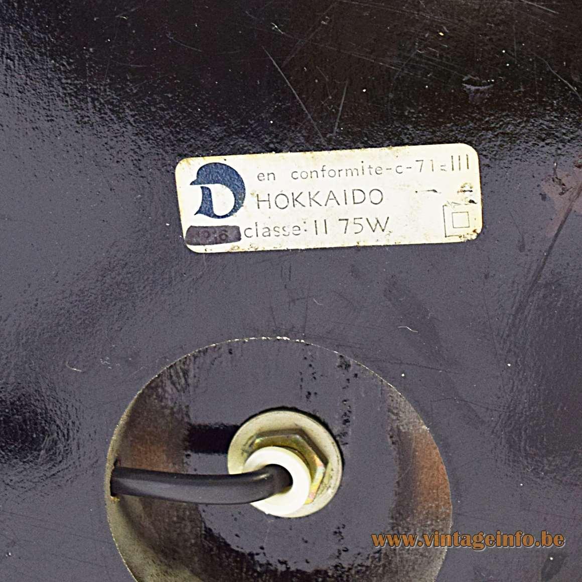 Hokkaido Table Lamp - label