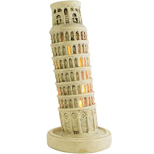 Leaning Tower of Pisa Lamp souvenir Italy polystone resin 1950s 1960s 1970s keepsake memento token