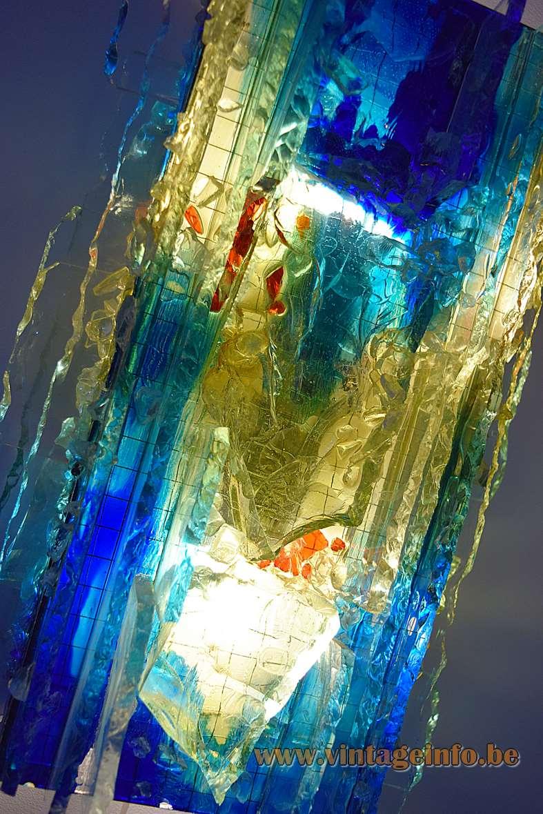 Raak Chartres Blue-Green Glass Wall Lamp