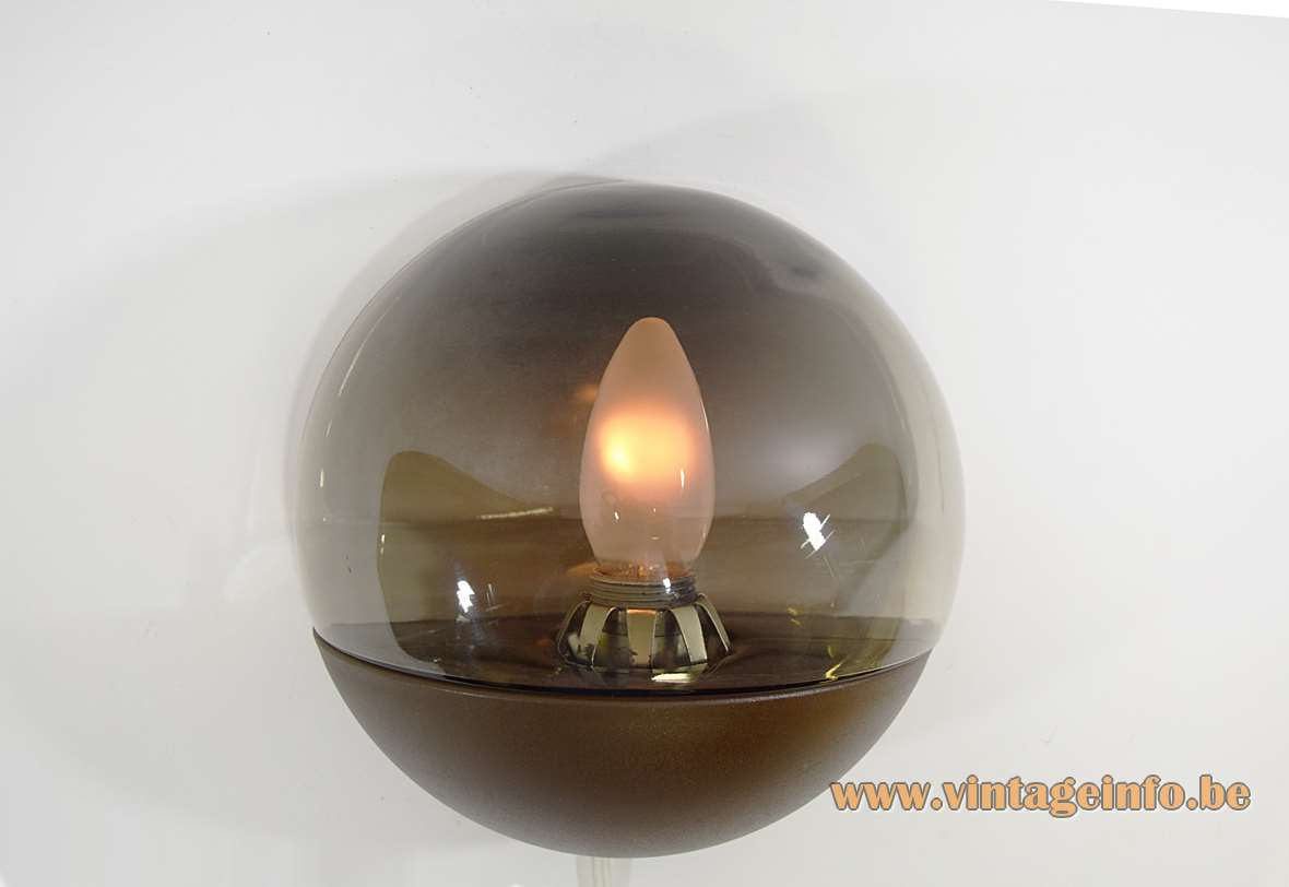Smoked Glass Wall Lamp Vintage Info All About Vintage