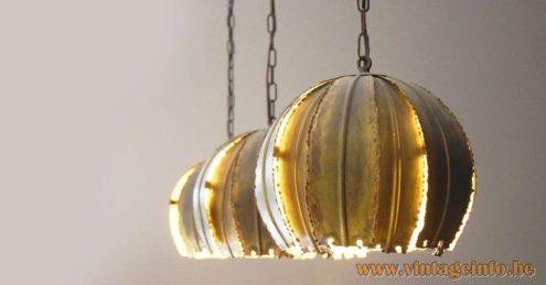 Svend Aage Holm Sørensen Brass Pendant Lamps