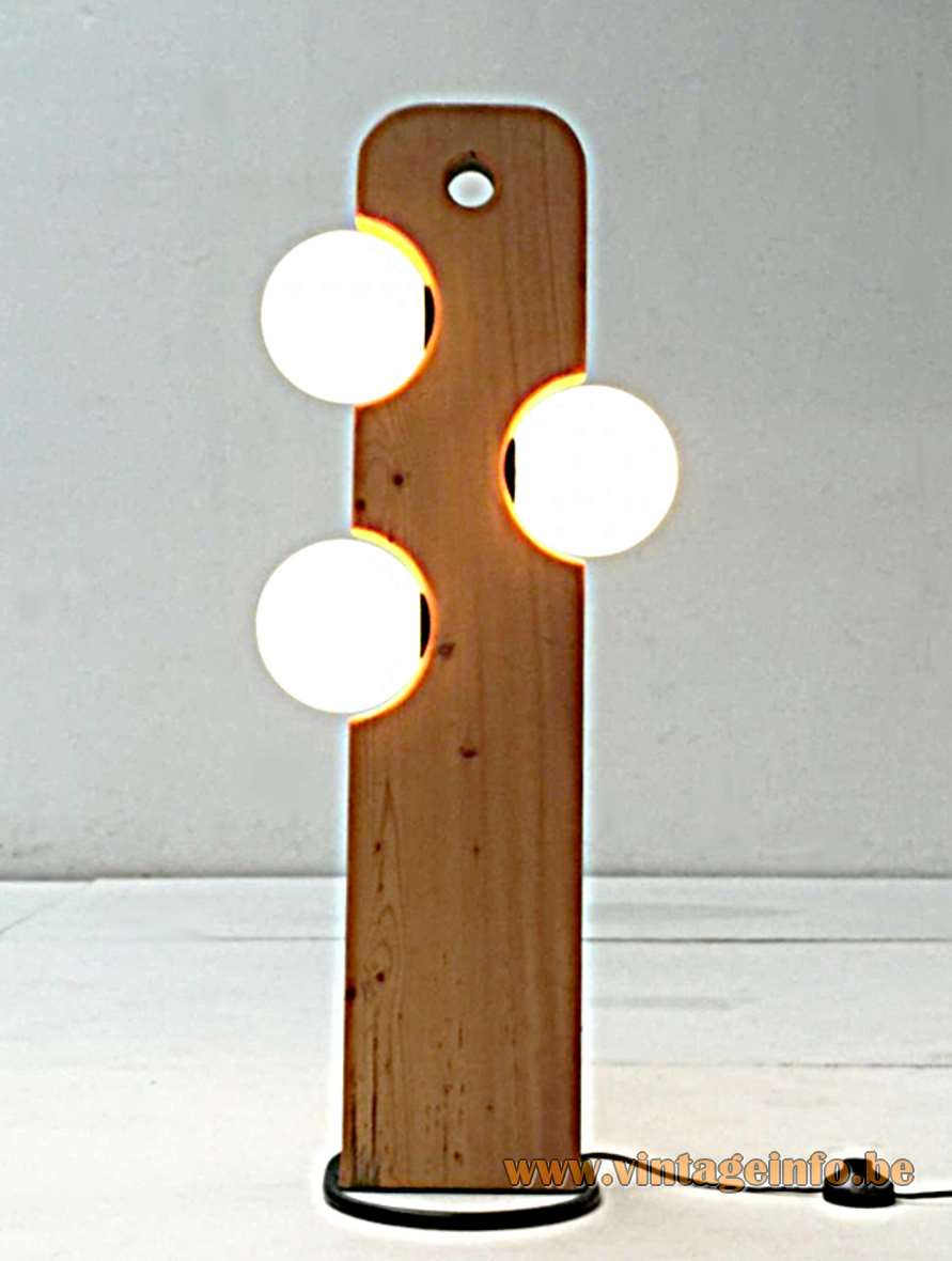 Temde-Leuchten Floor Lamp with 3 opal glass globes