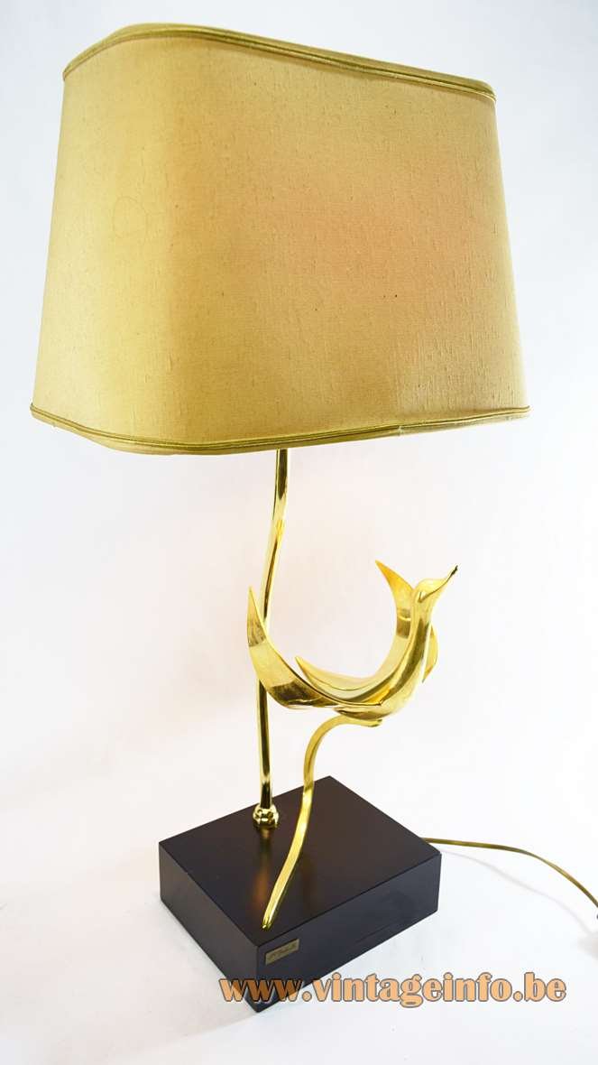 Galeotti Brass Bird Table Lamp