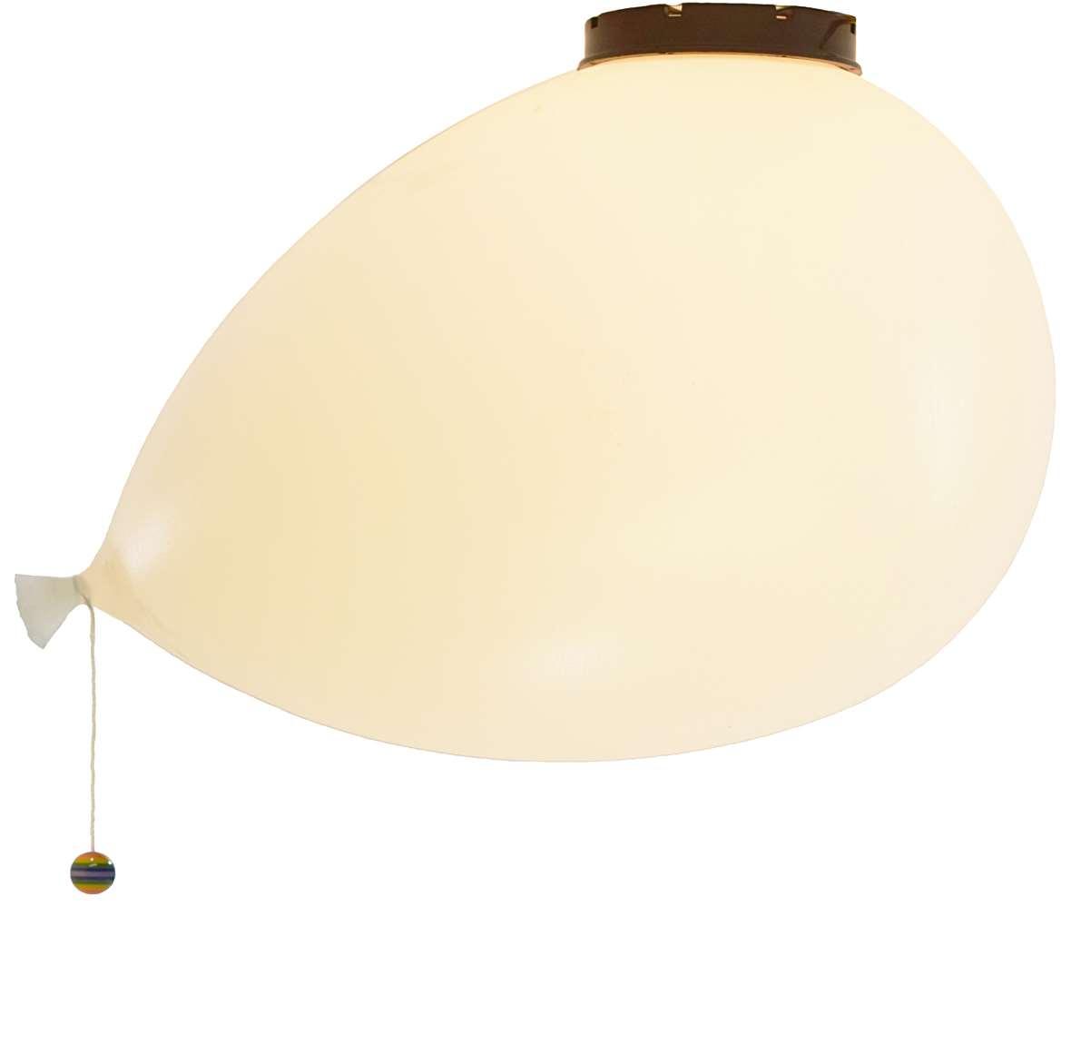 Bilumen Ballon flush mount balloon design: Yves Christin white plastic 1980s 1990s polyethylene wall lamp