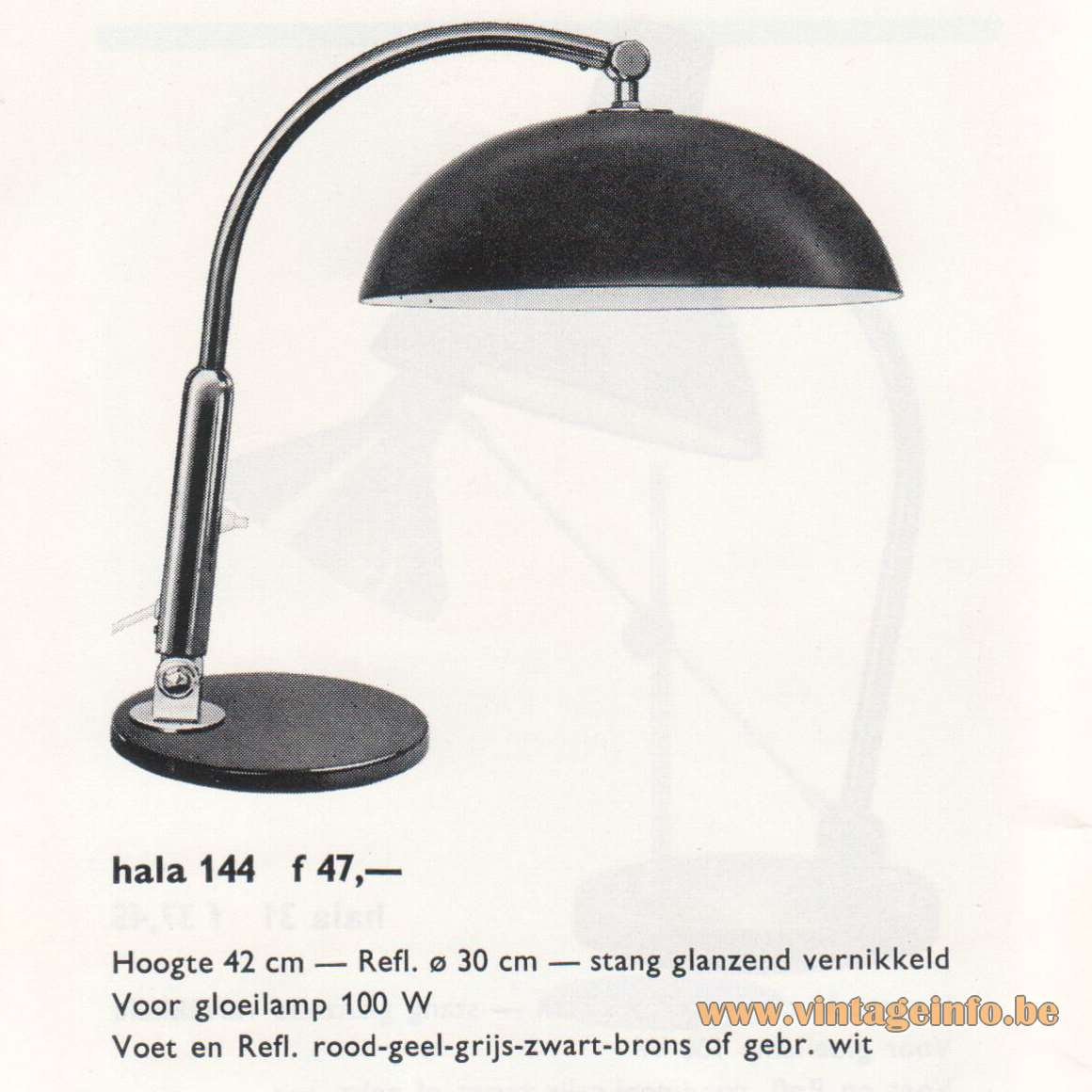 Hala 144 Desk Lamp - Catalogue 1967