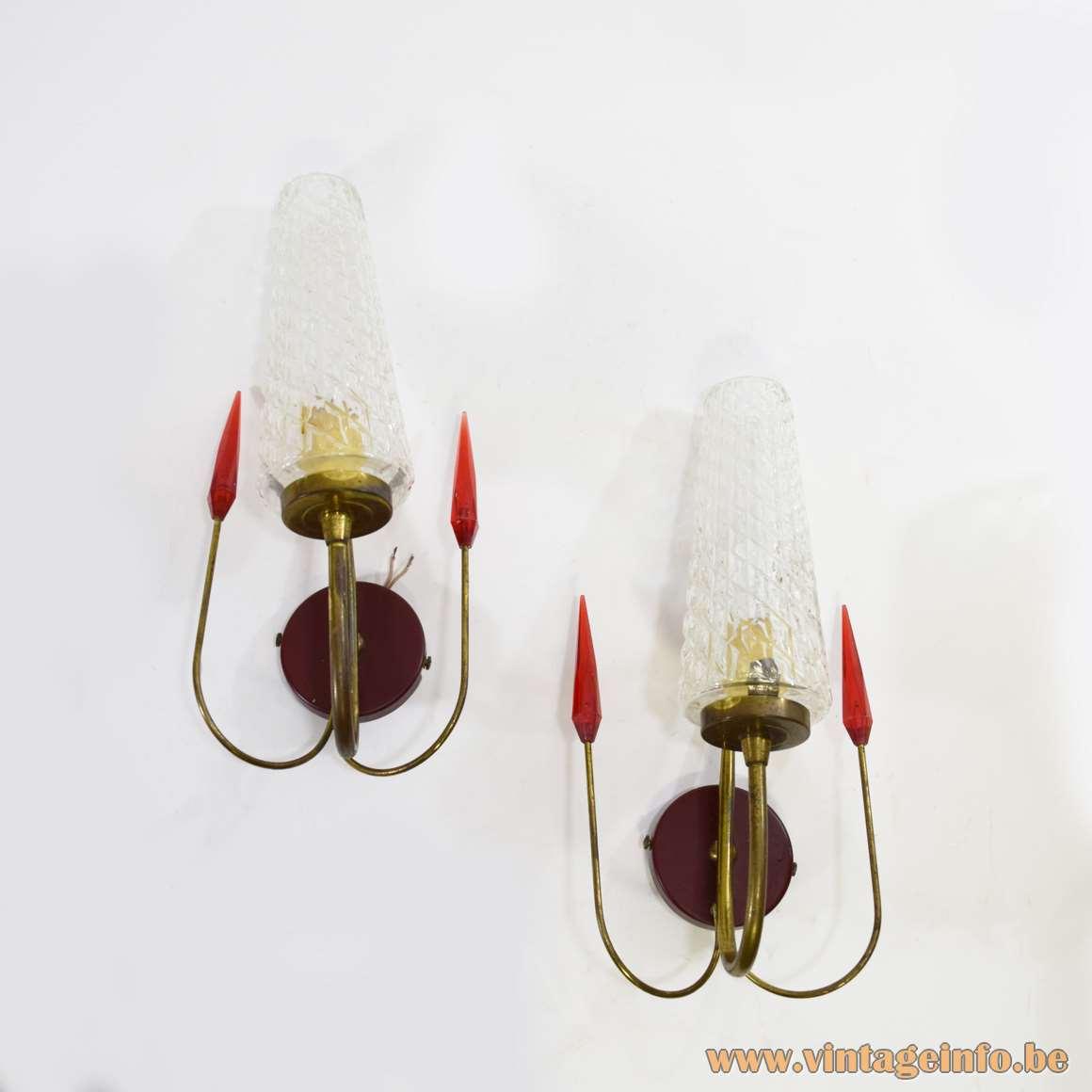 Maison Lunel 1950s Wall Lamps