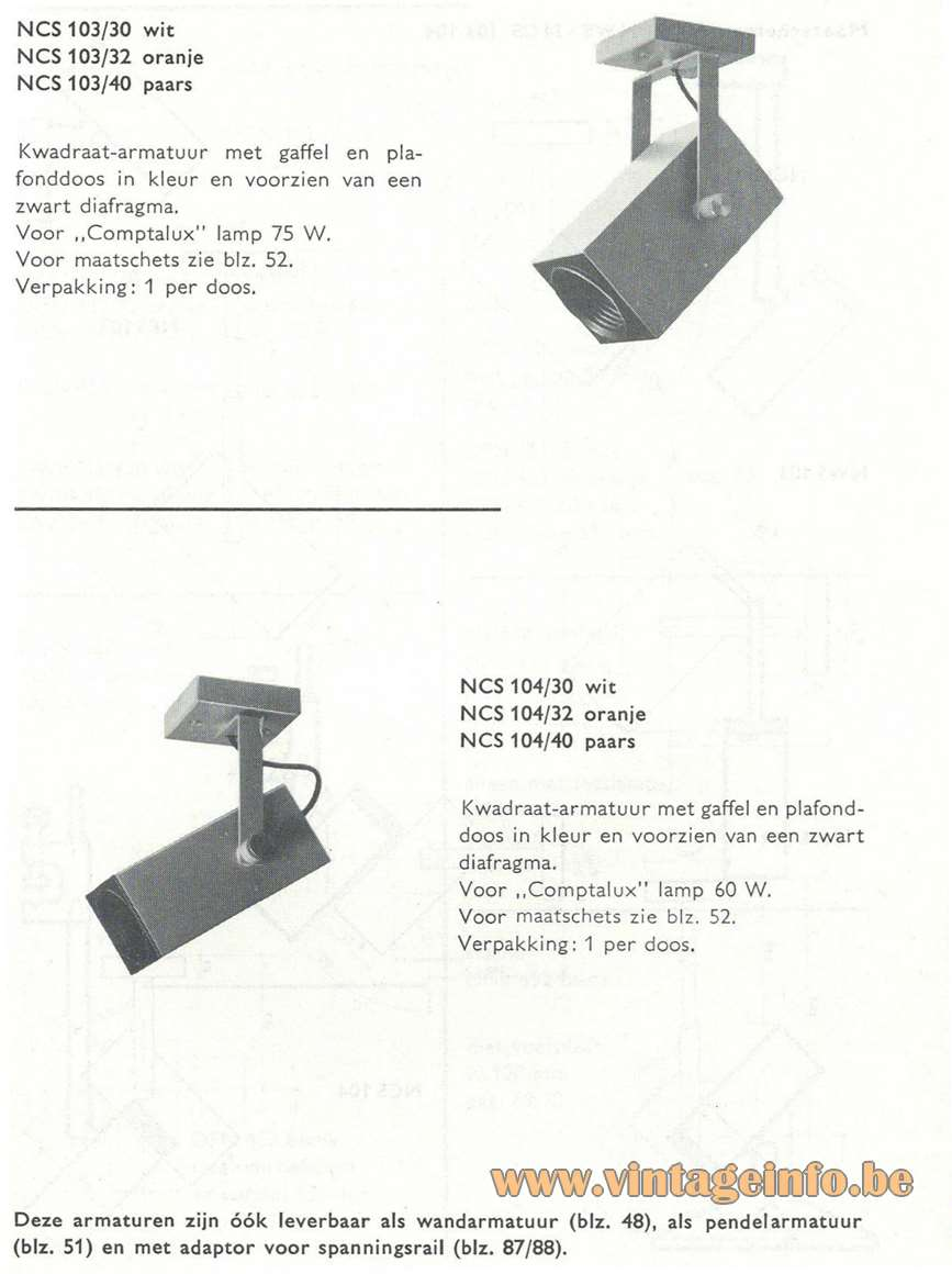Philips NCS 103 & 104 Spotlight - Catalogue Picture