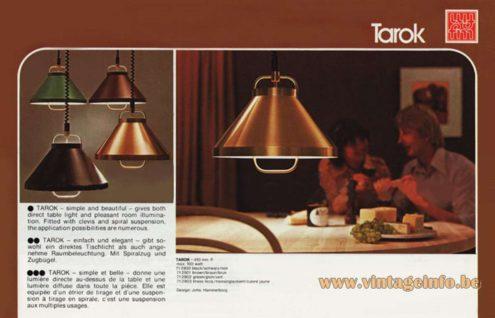Jo Hammerborg Tarok Pendant Lamps aluminium lampshade catalogue picture Fog & Morup 1970s MCM