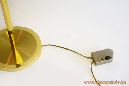 Boulanger Brass Floor Lamp - Relco RT81 dimmer designed by Ezio Didone in 1981.