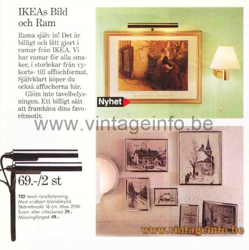 Abo Randers Picture Light - 1976 IKEA Catalogue Picture