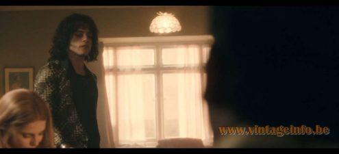 Capiz chandelier used as a prop in the film Bohemian Rhapsody (2018)