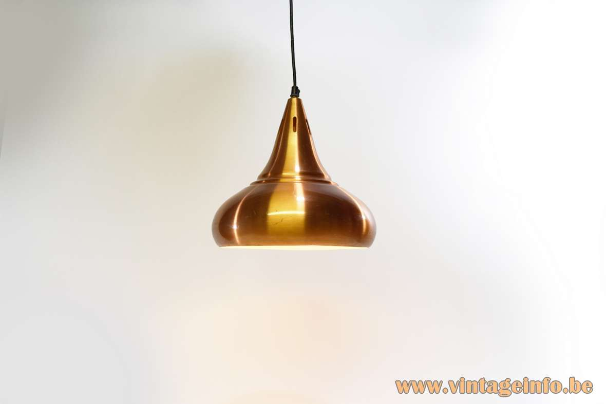 Carambole Billiard Pendant Lamp Orient Jo Hammerborg Fog & Morup copper coloured anodized aluminium 1960 1970s