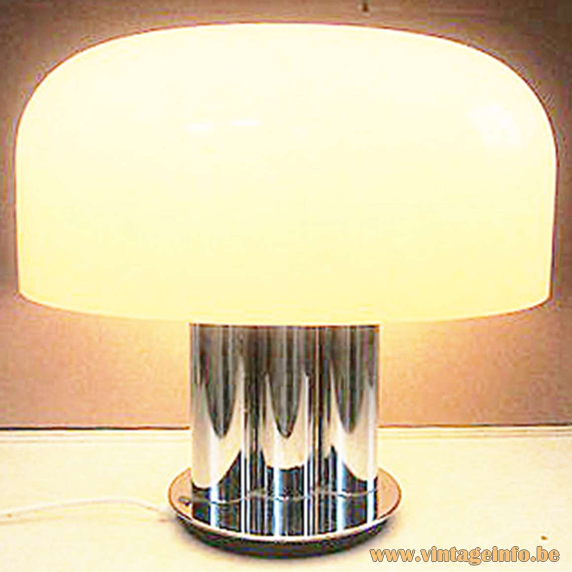 Cosmo Table Lamp chrome and acrylic round base 3 tubes Cosmo design LTD Harvey Guzzini style
