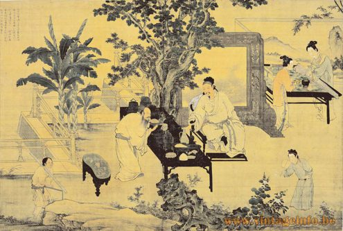 Enjoying Antiquities - Tu Chin (1465-1505) - painting by the famous Chinese artist