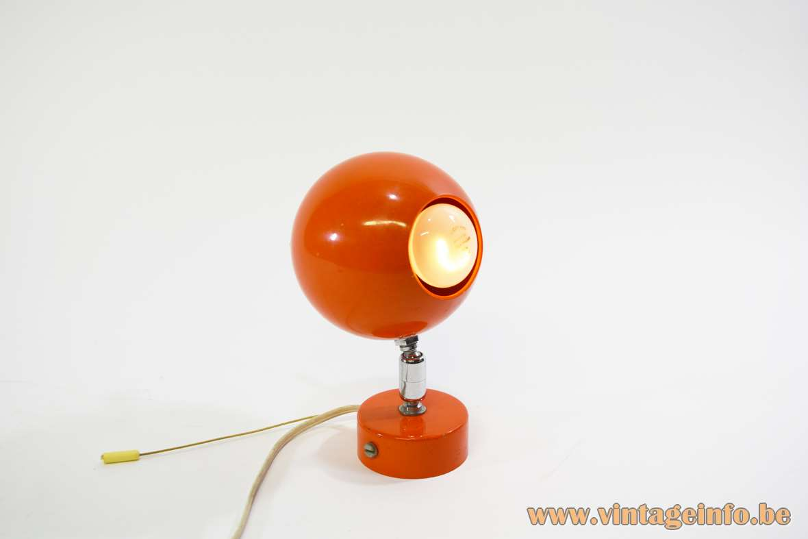 Orange Globe Wall Lamp