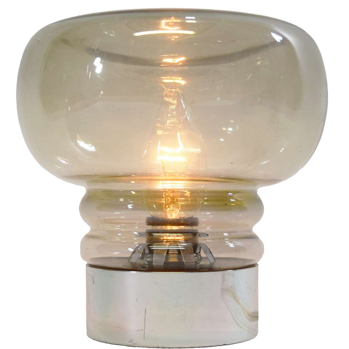 Smoked Glass Table Lamp Vintage Info All About Vintage