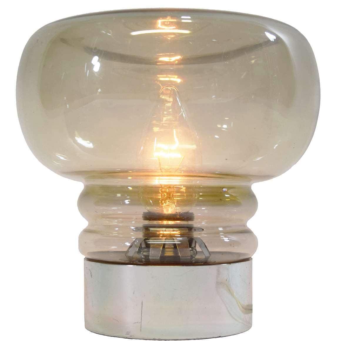 Smoked Glass Table Lamp