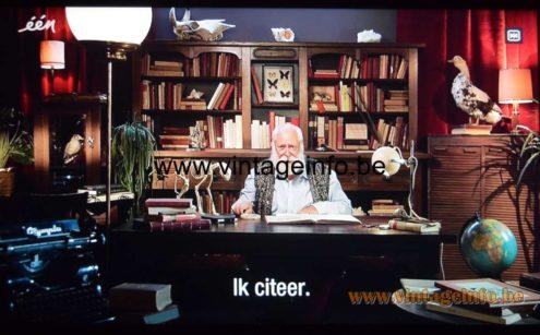 Iedereen Beroemd -één - Massive velours and cork table lamp