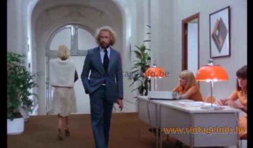 Harvey Guzzini Faro Table Lamps used as a prop in the film Le Jouet (1976) - Lamps in the movies!