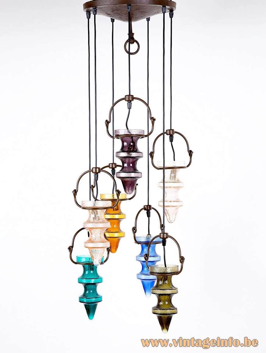 Raak Night Club Pendant Chandelier designer: Nanny Still glass produced by Val Saint Lambert 1950s 1960s