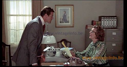 Harvey Guzzini Faro Table Lamp used as a prop in the James Bond film The Man with the Golden Gun (1974)