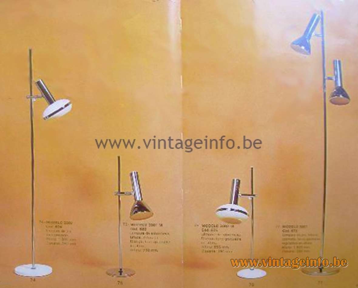 70s Fase Spain Chrome Desk Lamp - Catalogue picture