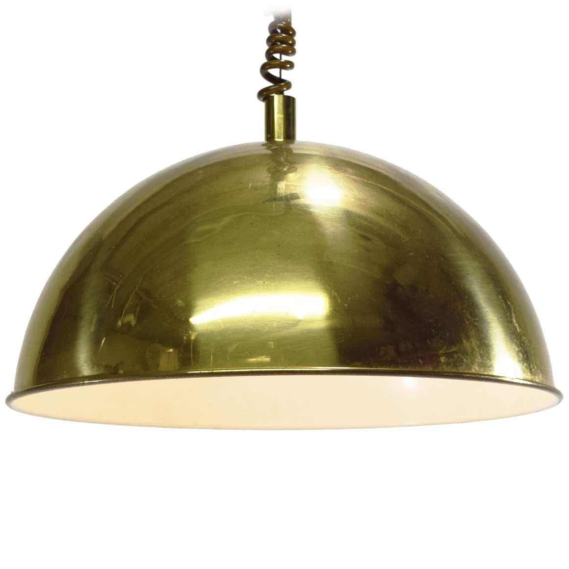 Brass Dome Pendant Light Vintage Info All About Vintage