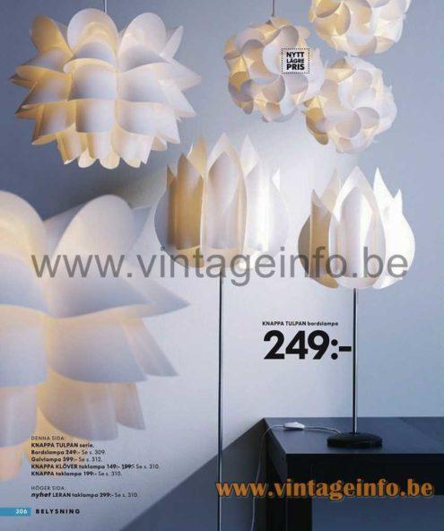 Crocusine Pendant Lamp - 2008 IKEA Catalogue Picture - Knappa Tulpan Series