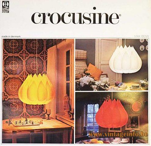 Crocusine Pendant Lamp - 1970s Catalogue Photo