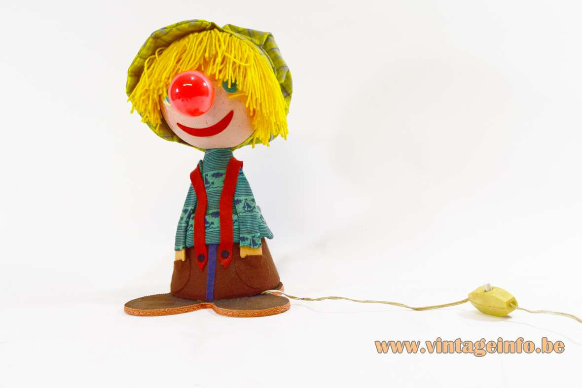 Felt Clown Table Lamp