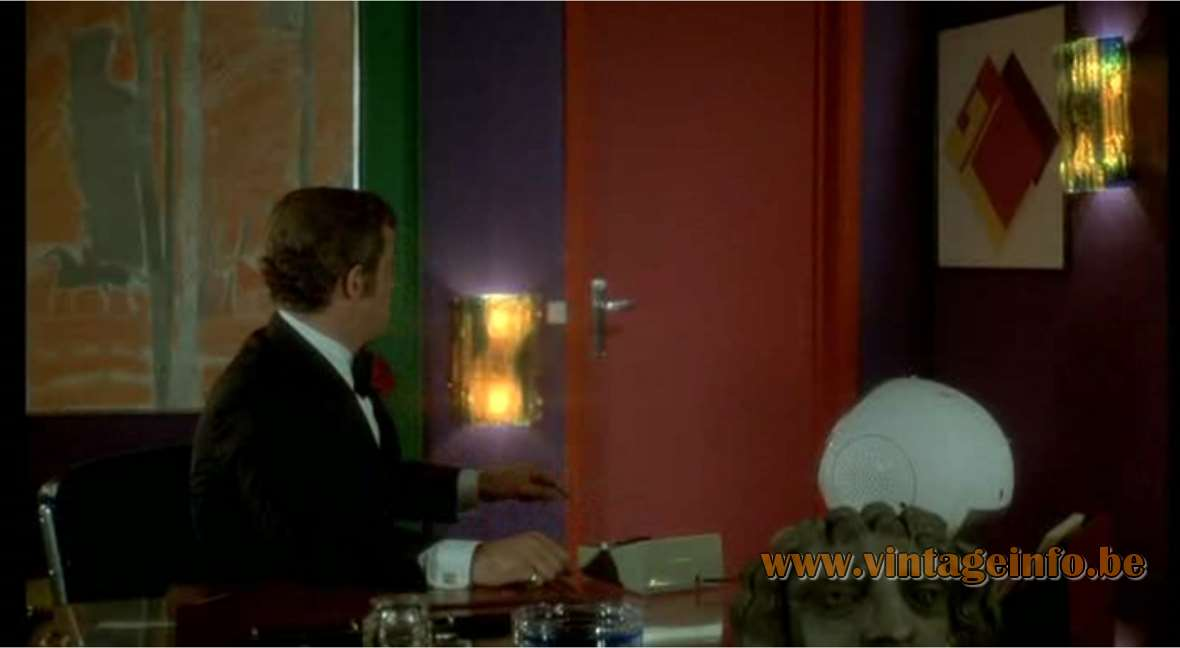 Raak Chartres Wall Lamps - Used as a prop in the film Le Corps De Mon Ennemi (1976) - Lamps in the movies