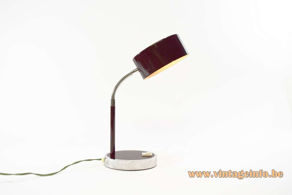 Purple Brown Italian Desk Lamp