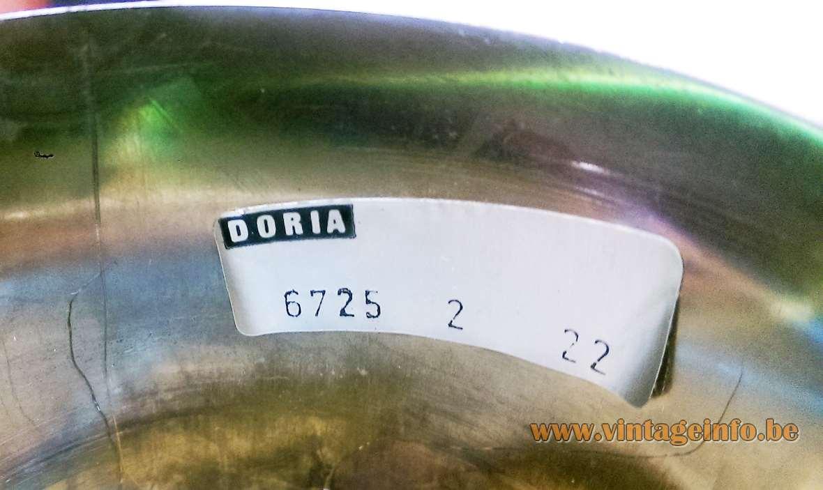 Sputnik globe pendant lamp DORIA bubble glass chrome balls 4 light bulbs 1960s 1970s MCM label