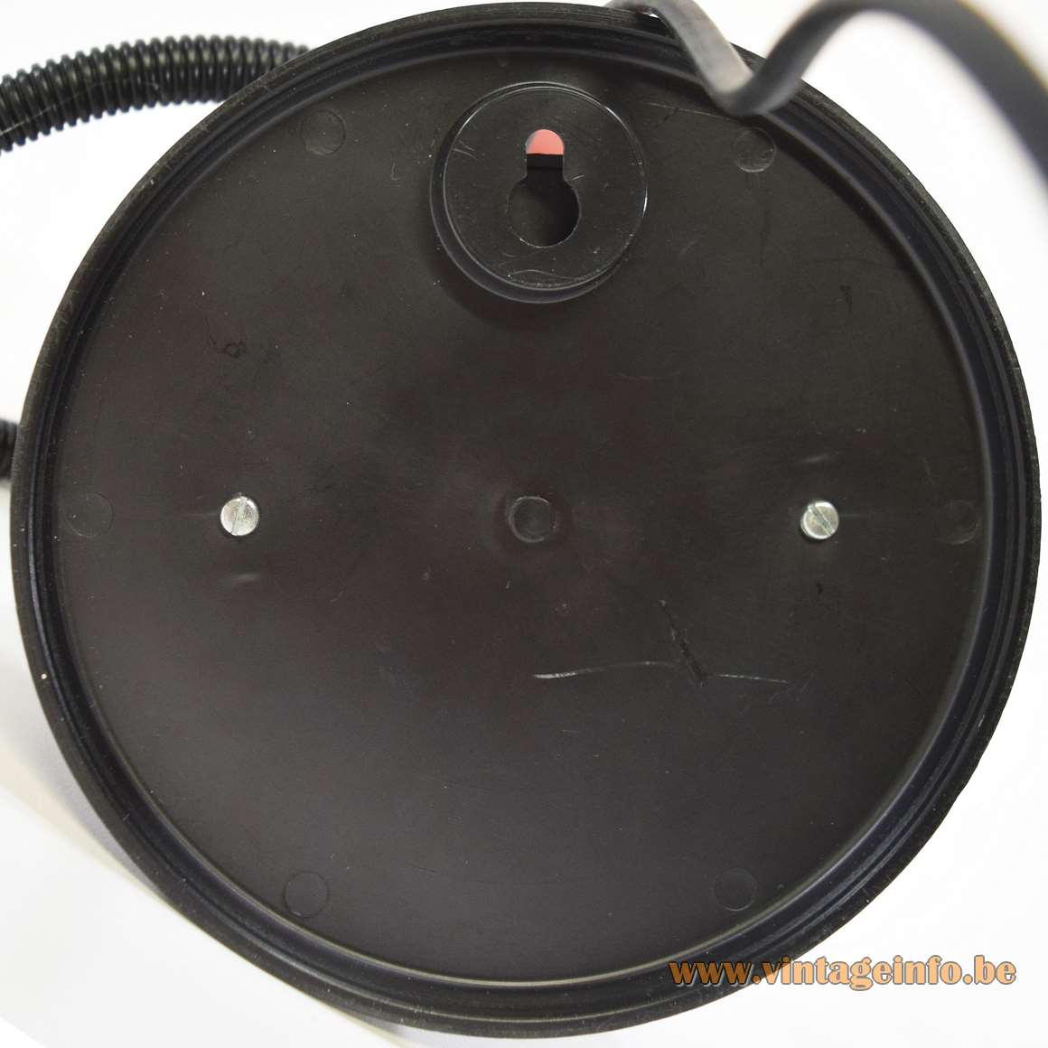 1970s magnetic table lamp red metal globe black plastic Germany MCM 1980s BJB