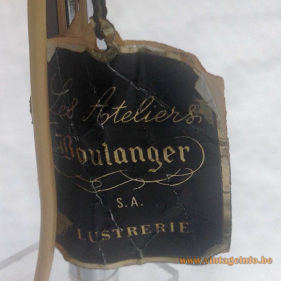 Les Ateliers Boulanger label Brussels Kessel-Lo Belgium lighting company 1970s 1980s 1990s MCM