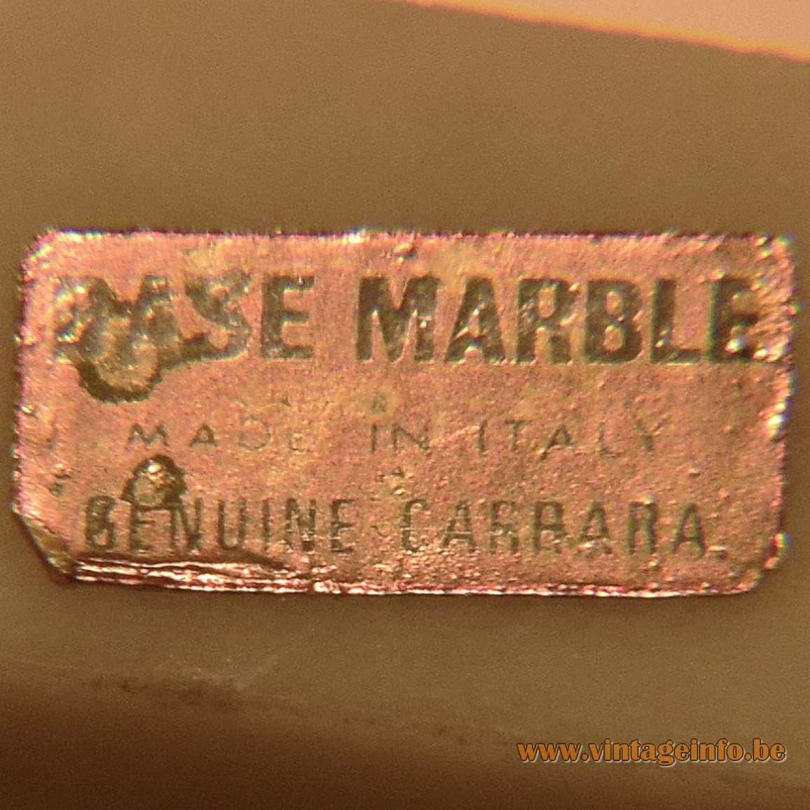 Queen Conch table lamp brass rod Carara marble base Bakelite socket 1970s lobatus gigas souvenir 1960s