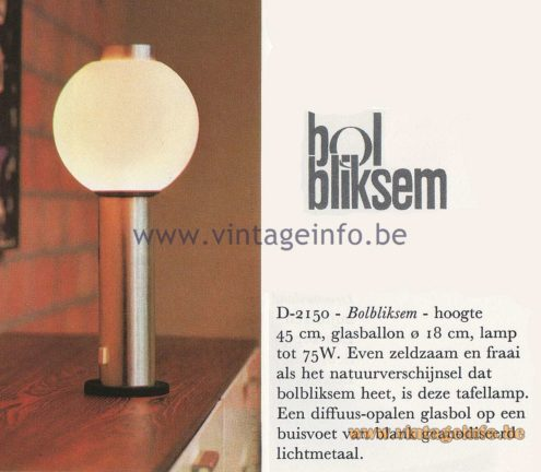 Raak Amsterdam Bolbliksem D-2150 Table Lamp