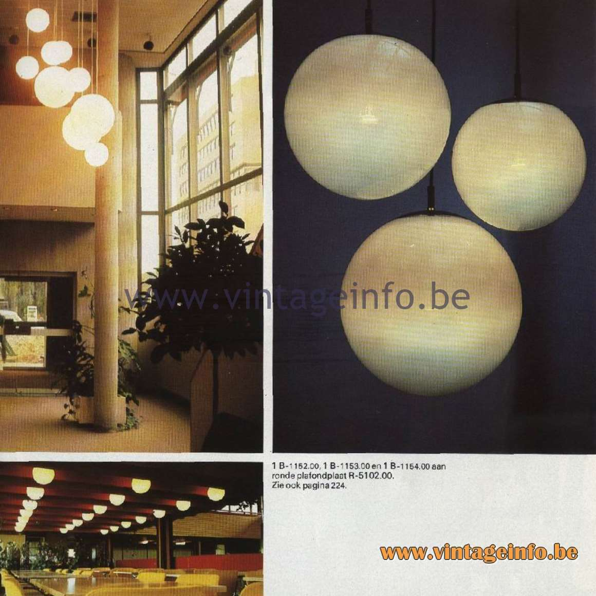 Raak Ochtendnevels Globe Pendant lamps Catalogue 11, 1978