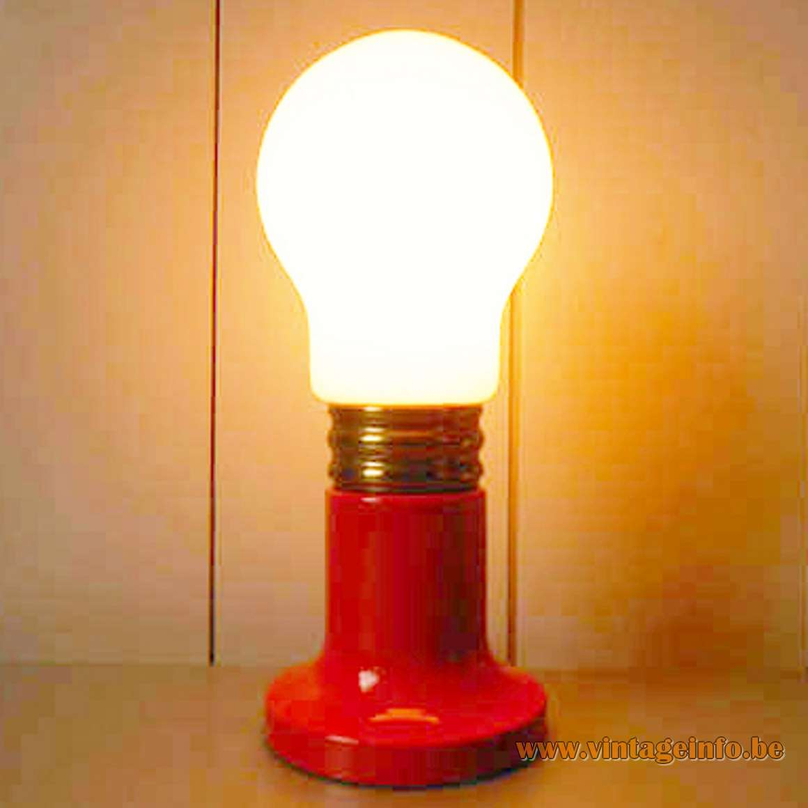 Red Bulb Table Lamp