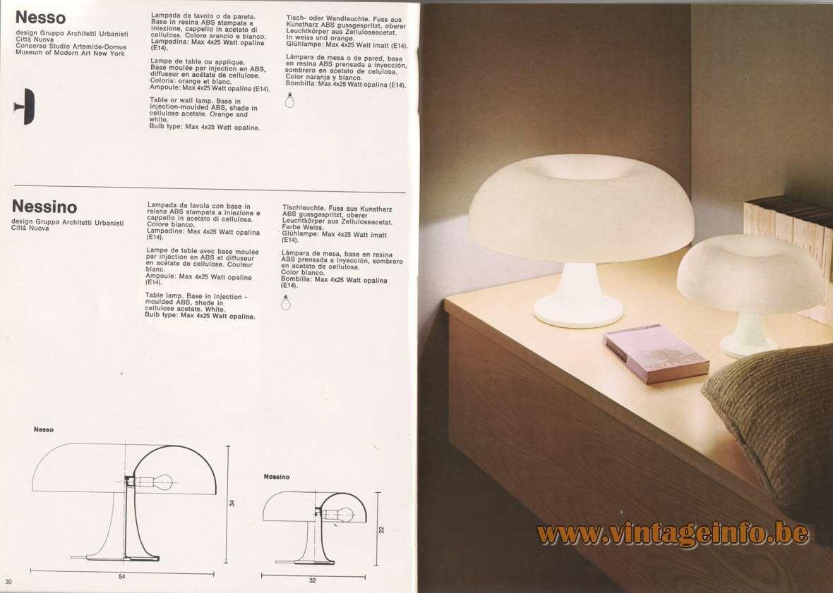 Lampada Da Studio Design artemide nesso table lamp – vintageinfo – all about vintage