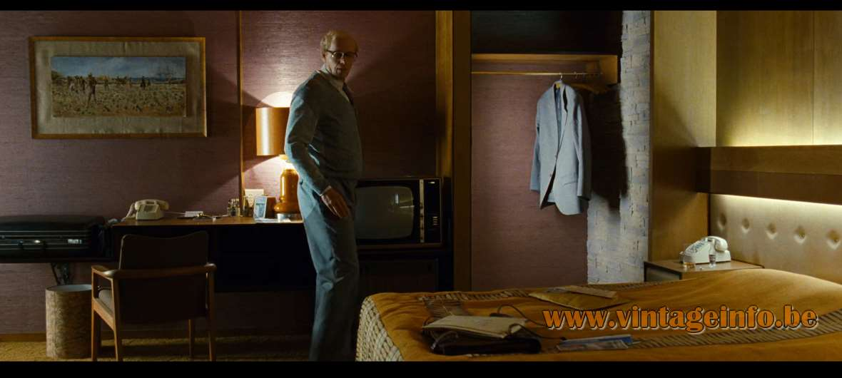 1970s Ochre Ceramic Table Lamp - Used as a prop in Cloud Atlas (2012). Lamps in the movies!