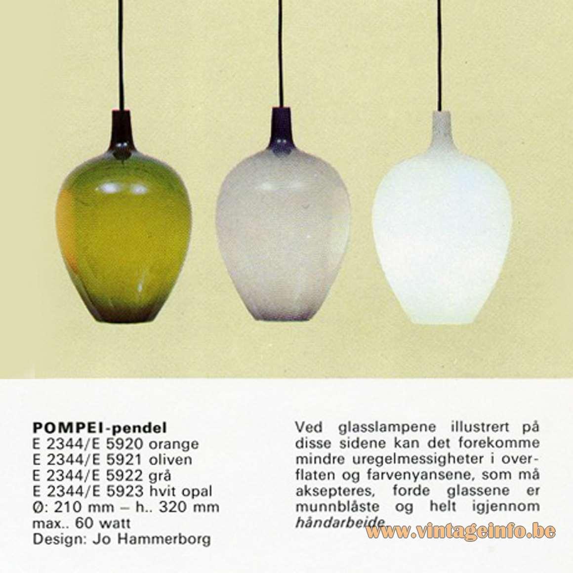 Fog & Morup Pompeï Pendant Lamp - Catalogue Picture
