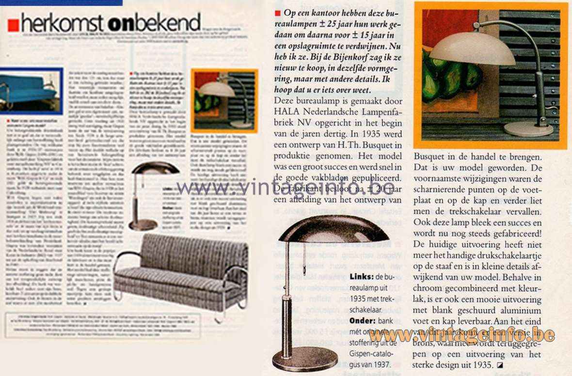 Herkomst Onbekend - (Origin Unknown) - Column in Dutch magazine Eigen Huis & Interieur early 2000s