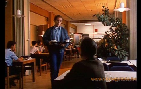 Herda rise & fall metal pendant lamp used as a prop in the crime movie De Ratelrat from 1987