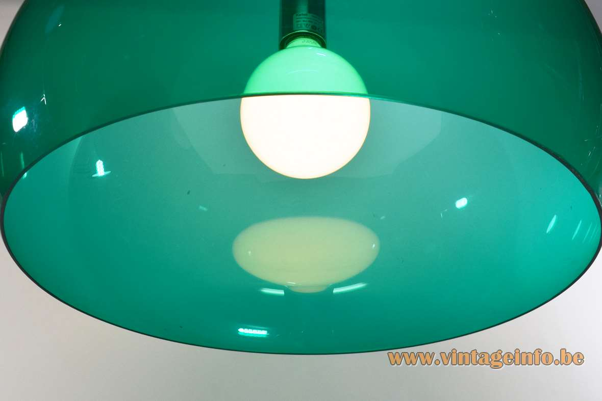 Kartell FL/Y pendant lamp green translucent acrylic designer: Ferruccio Laviani in 2002 suspension light