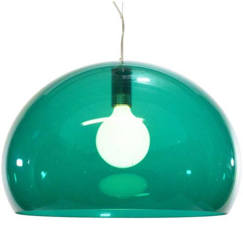Kartell pendant lamp FL/Y green translucent acrylic designer: Ferruccio Laviani 2002 suspension light plastic