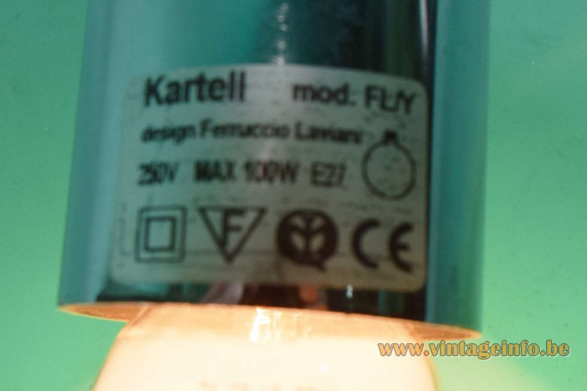 Kartell FL/Y pendant lamp 2002 design: Ferruccio Laviani rectangular Kartell label Italy