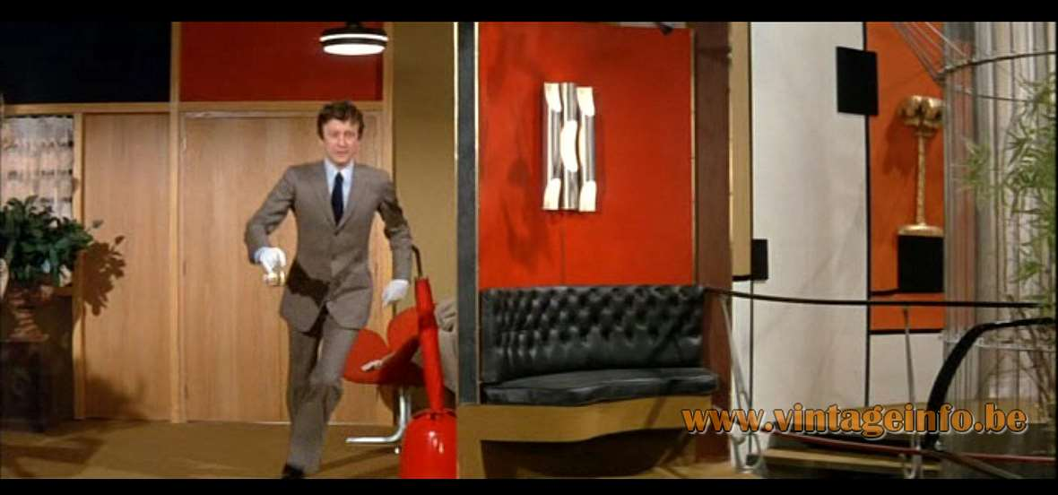 Maison Jansen Brass Palm Tree Wall Lamp - Film Oscar (1967) - Lamps in the movies - Louis de Funès