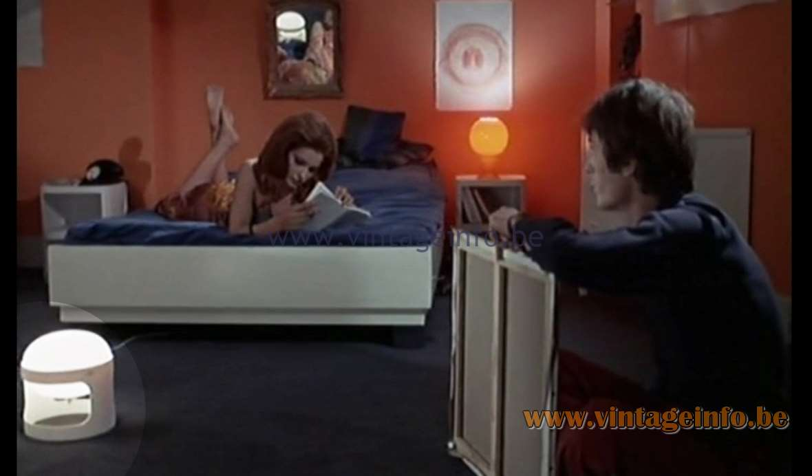 Joe Colombo KD 27 Table Lamp, used as a prop in the film Paris N'existe Pas (1969) - Lamps in the movies!